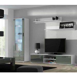 Artcam Obývacia stena Soho Farba: Biela/sivý lesk vyobraziť