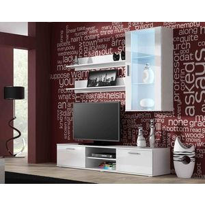 Artcam Obývacia stena Soho 5 Farba: Biela/biely lesk vyobraziť