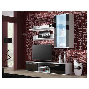 Artcam Obývacia stena Soho 5 Farba: biela/čierny lesk vyobraziť