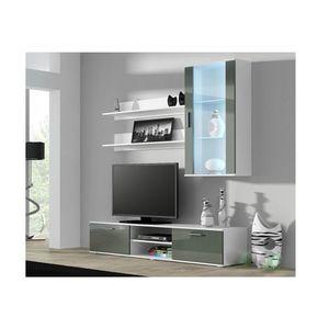 Artcam Obývacia stena Soho 5 Farba: Biela/sivý lesk vyobraziť