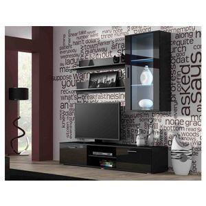 Artcam Obývacia stena Soho 5 Farba: Čierna/čierny lesk vyobraziť