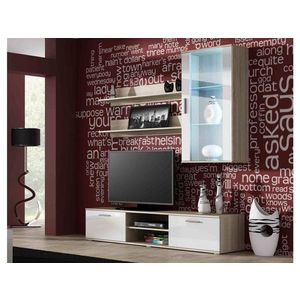Artcam Obývacia stena Soho 5 Farba: dub sonoma/biely lesk vyobraziť