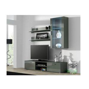 Artcam Obývacia stena Soho 5 Farba: Sivá/sivý lesk vyobraziť