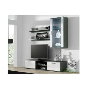 Artcam Obývacia stena Soho 5 Farba: Sivá/biely lesk vyobraziť