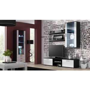 Artcam Obývacia stena Soho 6 biela/čierny lesk vyobraziť