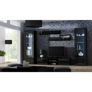Artcam Obývacia stena Soho 4 Farba: Čierna/čierny lesk vyobraziť