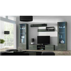 Artcam Obývacia stena Soho 4 Farba: Sivá/sivý lesk vyobraziť