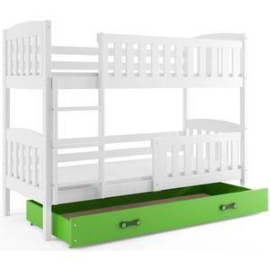 BMS Detská poschodová posteľ KUBUŠ / BIELA Farba: biela / zelená, Rozmer.: 190 x 80 cm vyobraziť