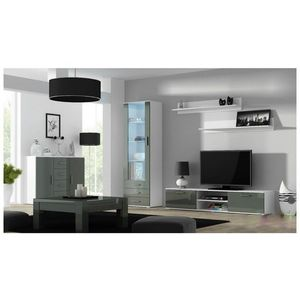Artcam Obývacia stena Soho 2 Farba: Biela/sivý lesk vyobraziť