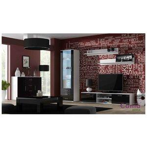 Artcam Obývacia stena Soho 2 Farba: biela/čierny lesk vyobraziť