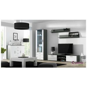 Artcam Obývacia stena Soho 2 Farba: Sivá/biely lesk vyobraziť