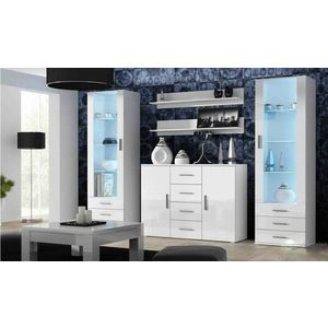 Artcam Obývacia stena Soho 3 Farba: Biela/biely lesk vyobraziť