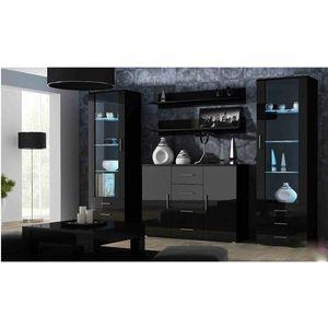 Artcam Obývacia stena Soho 3 Farba: Čierna/čierny lesk vyobraziť