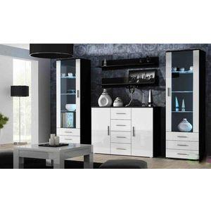 Artcam Obývacia stena Soho 3 Farba: čierna/biely lesk vyobraziť