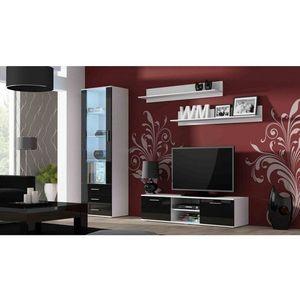 Artcam Obývacia stena Soho 7 Farba: biela/čierny lesk vyobraziť