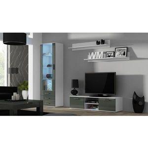 Artcam Obývacia stena Soho 7 Farba: Biela/sivý lesk vyobraziť