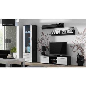 Artcam Obývacia stena Soho 7 Farba: čierna/biely lesk vyobraziť