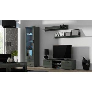 Artcam Obývacia stena Soho 7 Farba: Sivá/sivý lesk vyobraziť