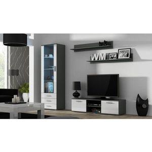Artcam Obývacia stena Soho 7 Farba: Sivá/biely lesk vyobraziť