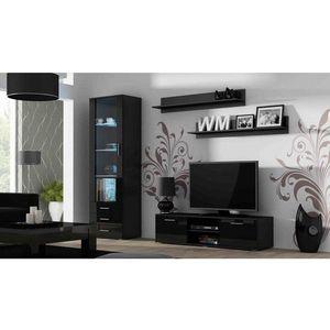 Artcam Obývacia stena Soho 7 Farba: Čierna/čierny lesk vyobraziť