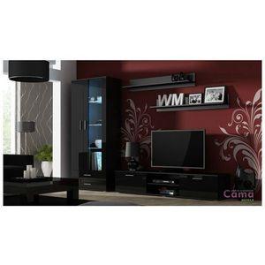 Artcam Obývacia stena Soho 8 Farba: Čierna/čierny lesk vyobraziť