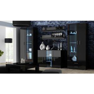 Artcam Obývacia stena Soho 10 Farba: Čierna/čierny lesk vyobraziť