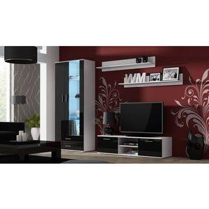 Artcam Obývacia stena Soho 11 Farba: biela/čierny lesk vyobraziť
