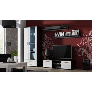 Artcam Obývacia stena Soho 11 Farba: čierna/biely lesk vyobraziť