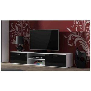 Artcam TV stolík SOHO 180 cm Farba: biela/čierny lesk vyobraziť