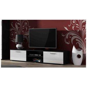 Artcam TV stolík SOHO 180 cm Farba: čierna/biely lesk vyobraziť