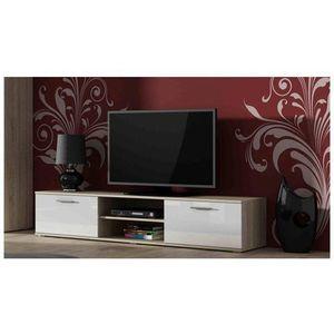 Artcam TV stolík SOHO 180 cm Farba: dub sonoma/biely lesk vyobraziť