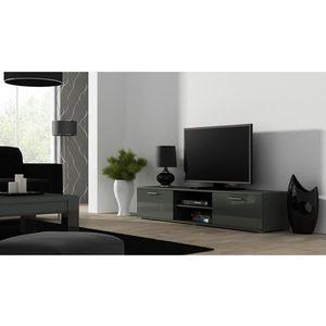 Artcam TV stolík SOHO 180 cm Farba: Sivá/sivý lesk vyobraziť