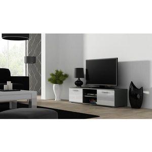 Artcam TV stolík SOHO 180 cm Farba: Sivá/biely lesk vyobraziť