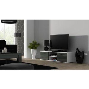 Artcam TV stolík SOHO 140 cm Farba: Biela/sivý lesk vyobraziť