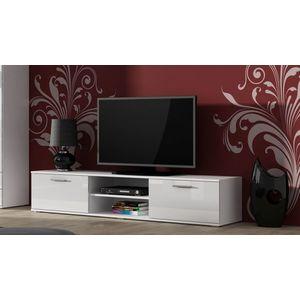 Artcam TV stolík SOHO 180 cm Farba: Biela/biely lesk vyobraziť