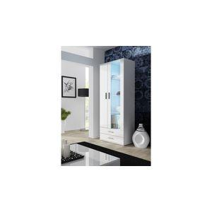 Artcam Stojaca vitrína SOHO S6 Farba: Biela/biely lesk vyobraziť