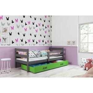 BMS Detská jednolôžková posteľ ERYK   sivá Farba: Sivá / zelená, Rozmer.: 190 x 80 cm vyobraziť