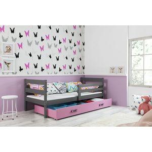 BMS Detská jednolôžková posteľ ERYK | sivá Farba: Sivá / ružová, Rozmer.: 190 x 80 cm vyobraziť