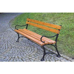 Parková lavice s područkami - FSC ROJAPLAST vyobraziť