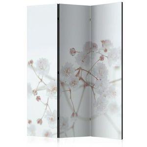 Paraván White Flowers Dekorhome 135x172 cm (3-dielny) vyobraziť