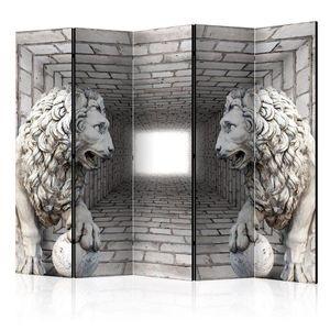Paraván Stone Lions Dekorhome vyobraziť