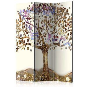 Paraván Golden Tree Dekorhome 135x172 cm (3-dielny) vyobraziť