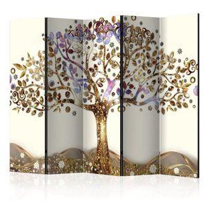 Paraván Golden Tree Dekorhome 225x172 cm (5-dielny) vyobraziť