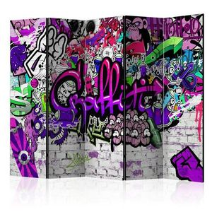Paraván Purple Graffiti Dekorhome vyobraziť