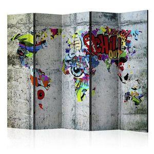 Paraván Graffiti World Dekorhome vyobraziť
