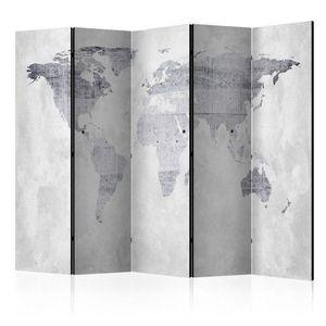 Paraván Concrete Map Dekorhome vyobraziť
