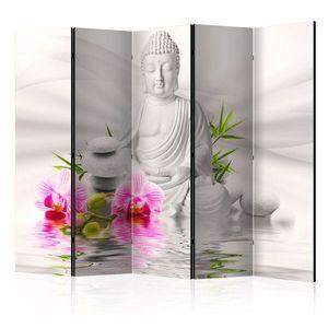 Paraván Buddha and Orchids Dekorhome 225x172 cm (5-dielny) vyobraziť