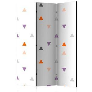 Paraván Triangles Rain Dekorhome 135x172 cm (3-dielny) vyobraziť