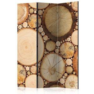 Paraván Wood grains Dekorhome 135x172 cm (3-dielny) vyobraziť