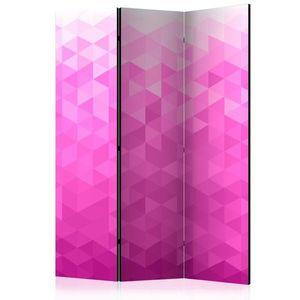 Paraván Pink pixel Dekorhome 135x172 cm (3-dielny) vyobraziť